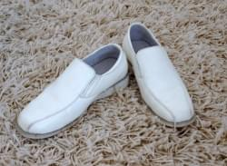 chaussures blanches cuir mariage