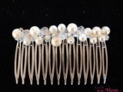 peigne perles - ornement voile & coiffure Mariée