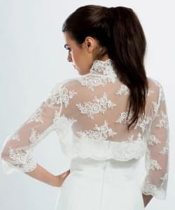Boléro en dentelle de mariée