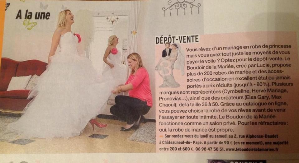 le boudoir de la mariée - article femina - octobre 2013