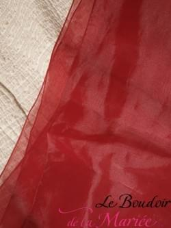 """Etole organza Rouge """"Point Mariage"""""""