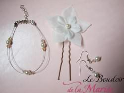 parure de mariée - Mathilde - collier