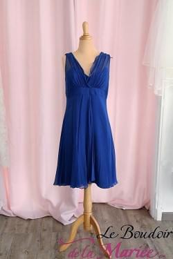 robe de cocktail loulou 1.2.3 soie bleue