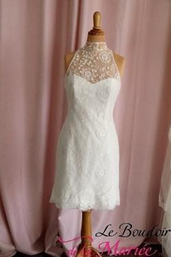 Robe de mariée Feria Cymbeline courte et longue