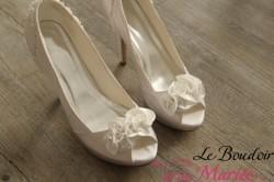 Escarpins de mariée Satin