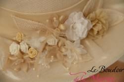 """Chapeau de mariée """"La chapellerie de la Loire"""""""
