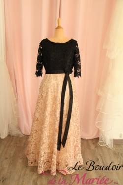 Robe de cocktail Rose gold/noire