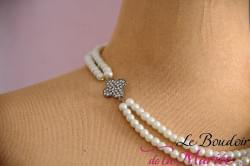 Collier de mariée Perles