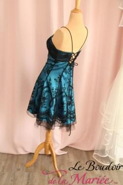 """Robe de mariée bleue noire """"France Mode"""""""