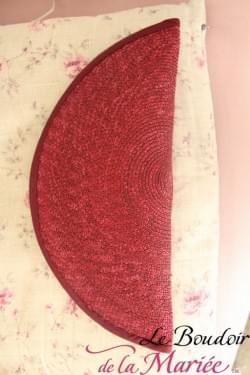 Ensemble chapeau & pochette sisal Bordeaux