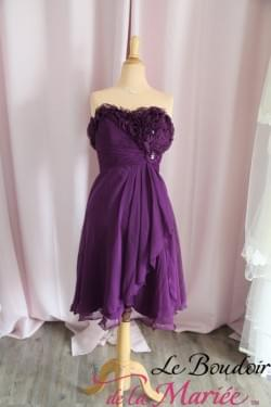 "Robe de cocktail Violette"" Juju et Christine"""