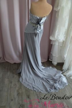 """Robe de mariée Clandestine grise """"Les Mariées d'Elodie"""""""