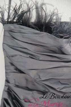 robe cymbeline soie grise