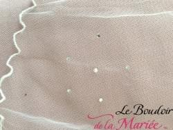Voile court petits strass