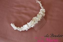 Peigne cheveux mariée Croissant de Lune