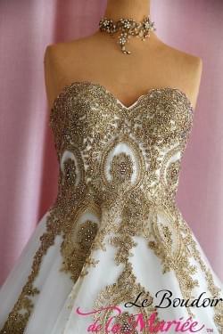 Robe de mariée Prestige Or/ivoire