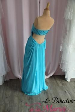 Robe de cocktail Turquoise
