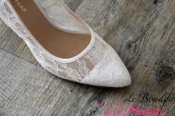 """Chaussures de mariée dentelles """"Naf Naf"""""""