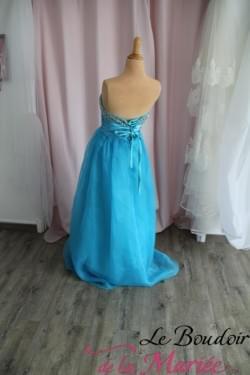 Robe de cocktail Mia bleue