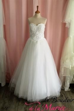 Robe de mariée Agatha Tulle & perles