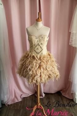 "Robe de cocktail Plumes ""Izzidress"""