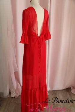 """Robe de cocktail Olive Rouge """"Elise Hameau"""" look bohème"""