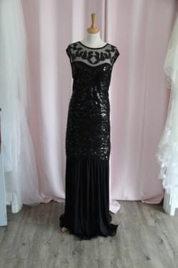 Robe de cocktail noire Charleston