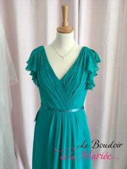 "Robe de cocktail Cléa Vert ""Point Mariage"""
