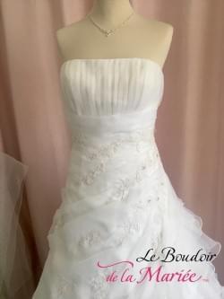 Robe de mariée Organza Blanche